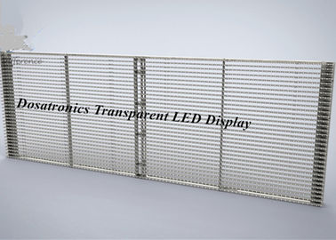 Aluminum P4.8mm RGB Transparent LED Display Full Color LED Signs Outdoor