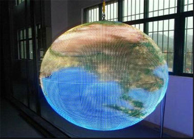 Restaurant / Railway Spherical LED Display Panel With LINSN Control System