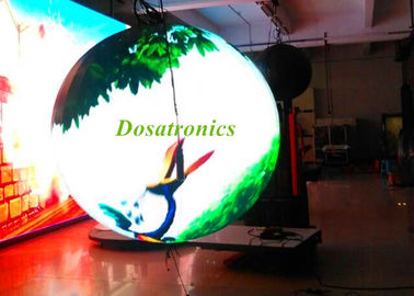 Commercial Indoor Round Video Spherical LED Display Module 1.2M Diameter