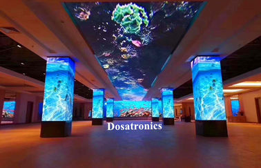 90 Degrees Corner P3mm LED Displays HD Video Wall With CE / ROHS